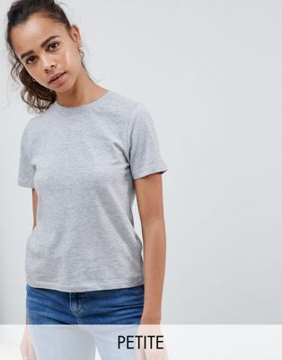New Look Petite girlfriend tee in gray