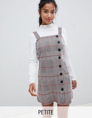 New Look Petite – Kariertes Kleid