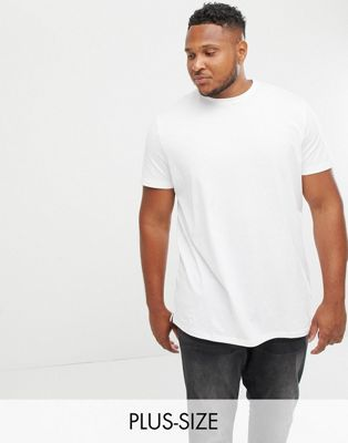 New Look Plus longline t-shirt in white