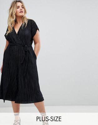 New Look Plus – Plisserad jumpsuit