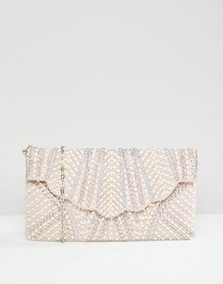 New Look - Pochette festonnée ornée de perles