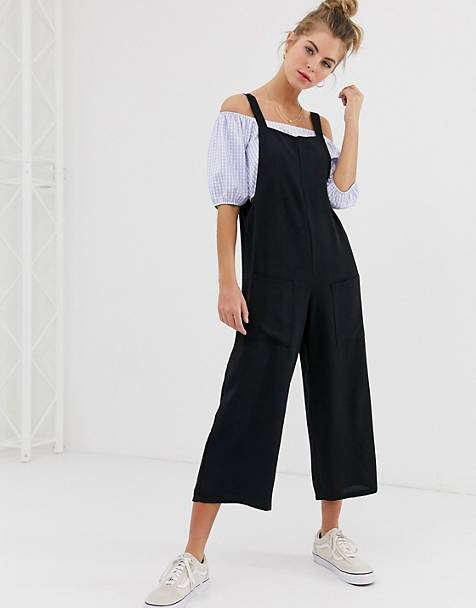ac755a3ae8 New Look pocket detail jumpsuit in black