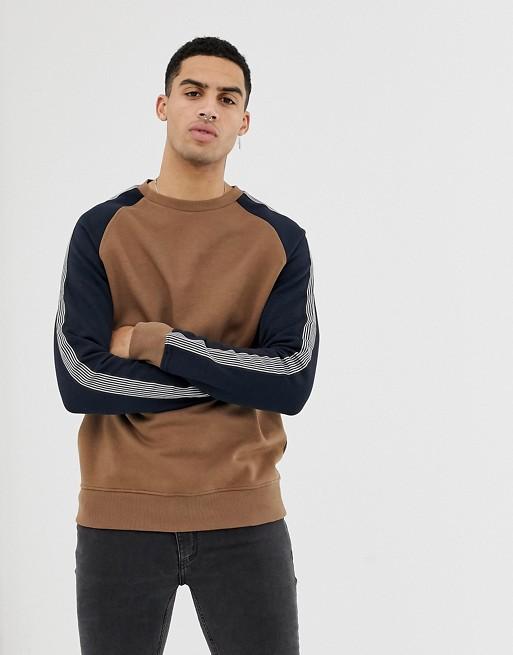 Image 1 of New Look raglan sweatshirt in mink