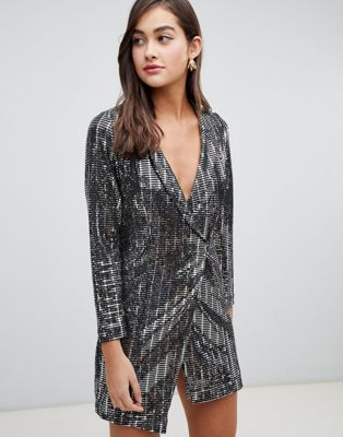 New Look - Robe smoking à sequins