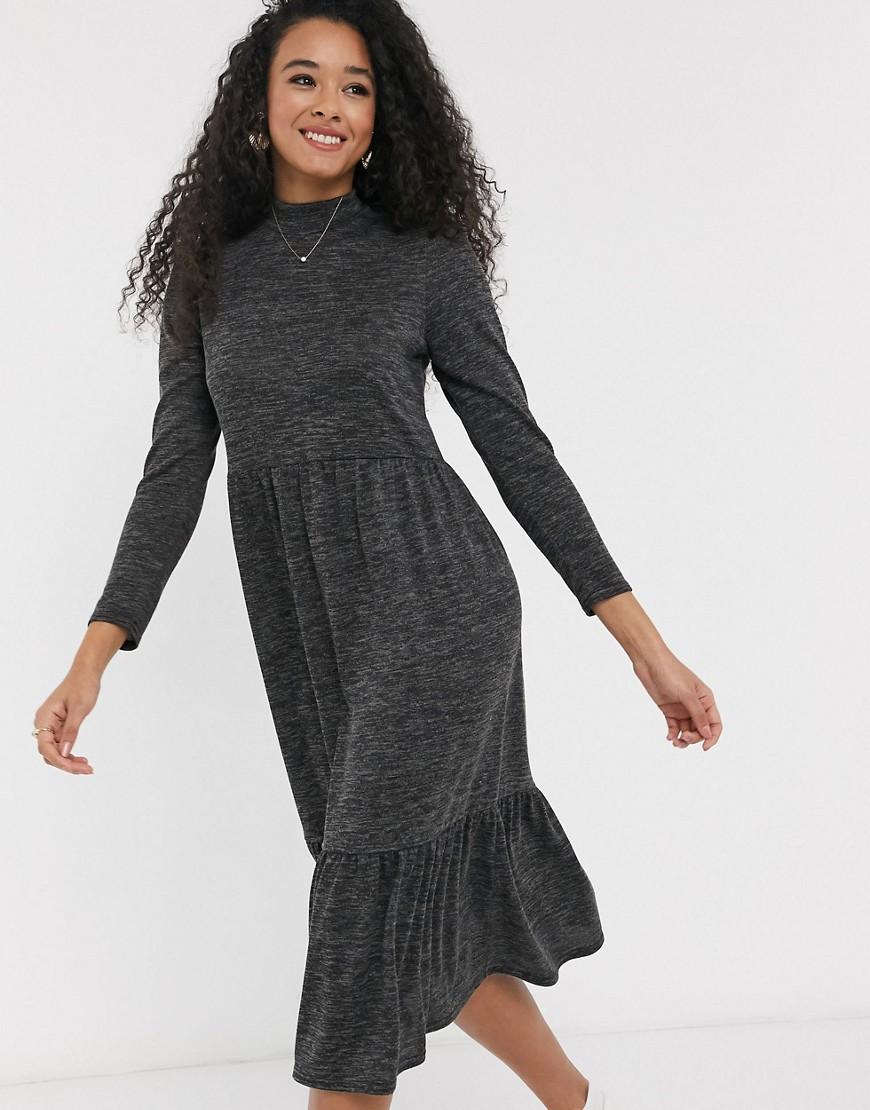 New Look seam midi dress in dark gray - New Look online sale