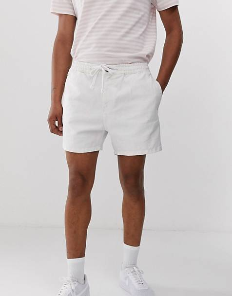 eff83450660 New Look shorts with drawstring in white