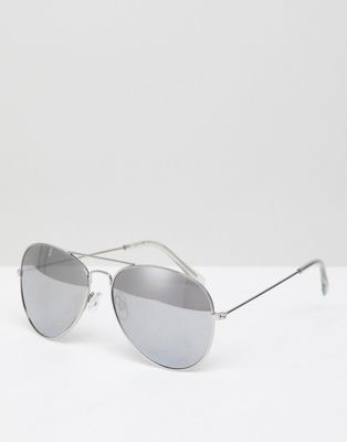 New Look – Silverfärgade pilotglasögon