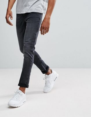 New Look Skinny Fit Jeans In Washed Black