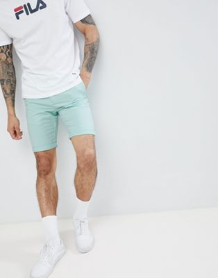 New Look Slim Fit Chino Shorts In Mint Green
