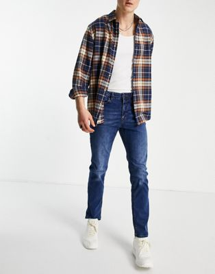 New Look slim jeans in mid blue - ASOS Price Checker