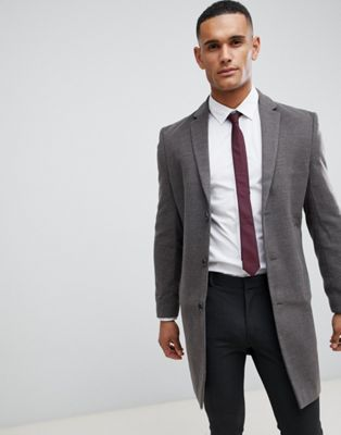 New Look smart overcoat in grey