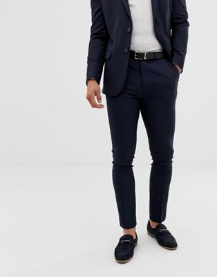 New Look smart skinny pants in navy