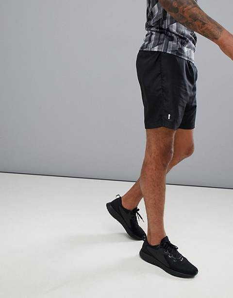New Look Sport – Schwarze Lauf-Shorts