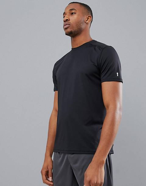 New Look – SPORT – Schwarzes Stretch-T-Shirt