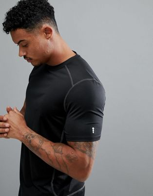 Image 1 of New Look SPORT stretch t-shirt in black