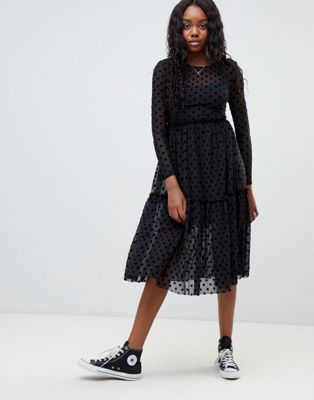 New Look spot mesh dress