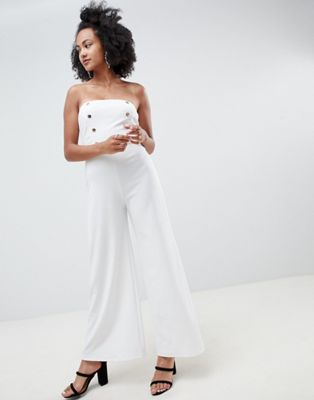Image 1 of New Look Strapless Tailored Jumpsuit