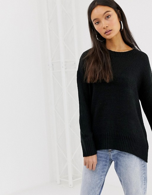 New Look sweater in black