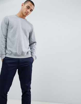 New Look Sweatshirt With Crew Neck In Grey