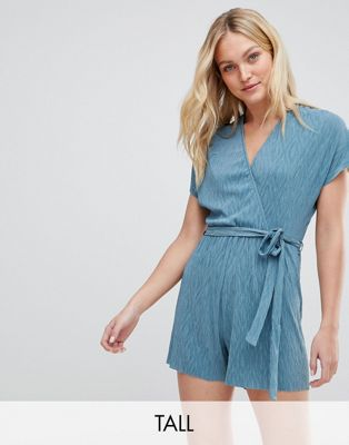 New Look Tall Crinkle Wrap Romper