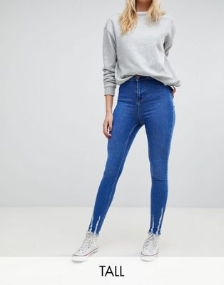 New Look Tall Frayed Hem Jeans