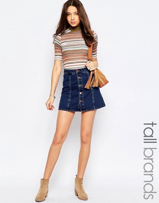 l'atteggiamento migliore 04e79 f7714 New Look Tall - Gonna di jeans con bottoni sul davanti