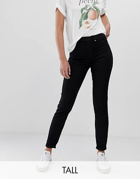 New Look Tall jeggings in black