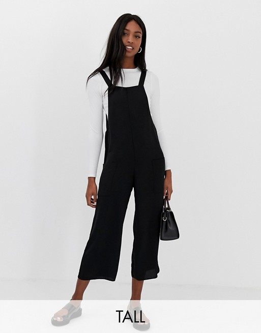 New Look Tall overall jumpsuit in black