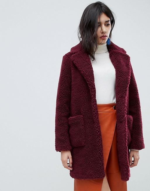 Image 1 of New Look Teddy Coat