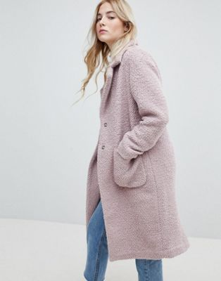 New Look Textured Wool Midi Coat
