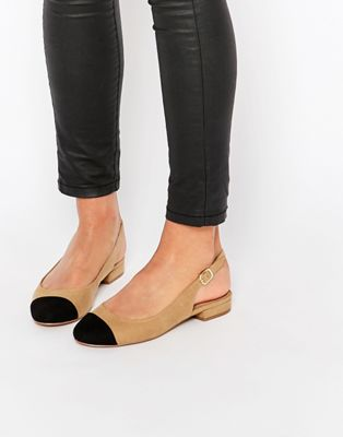 Image 1 of New Look Toe Cap Suedette Slingback