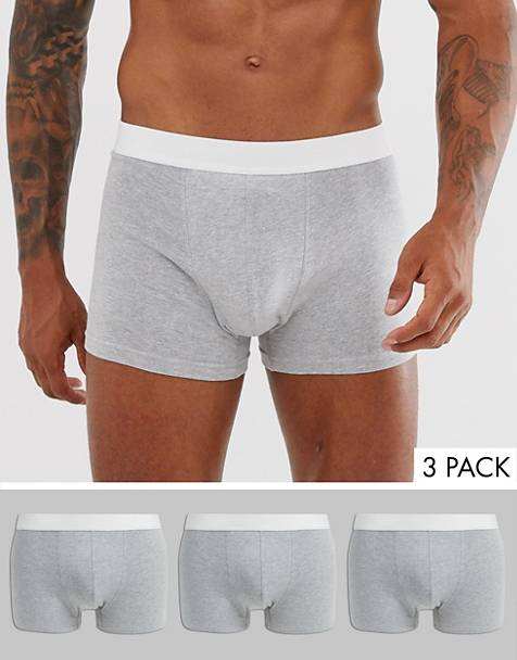 New Look trunks in gray 3 pack