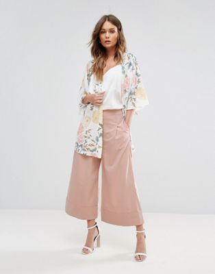 New Look Turn Up Culotte Pants