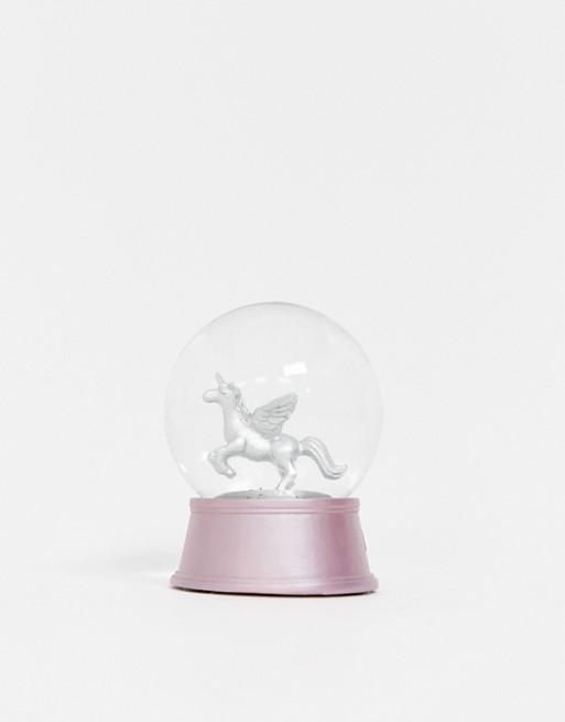Image 1 of New Look unicorn snowglobe