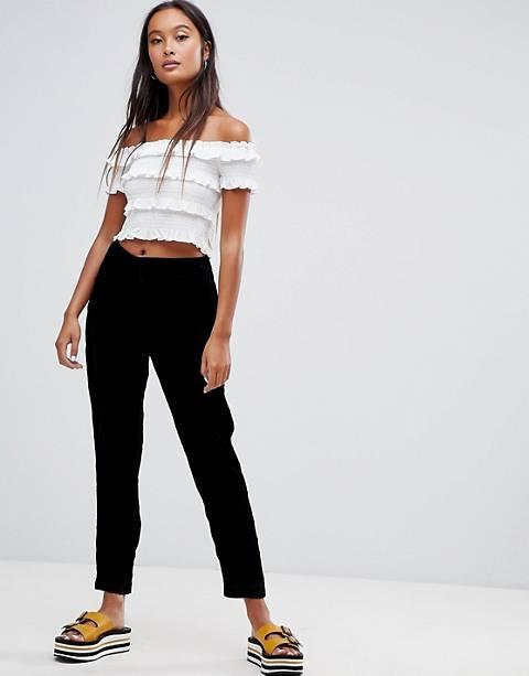 New Look velvet slim leg pants