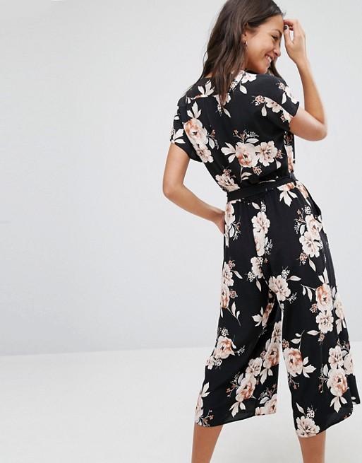 d168ebeb2318 New Look Vintage Floral Culotte Jumpsuit