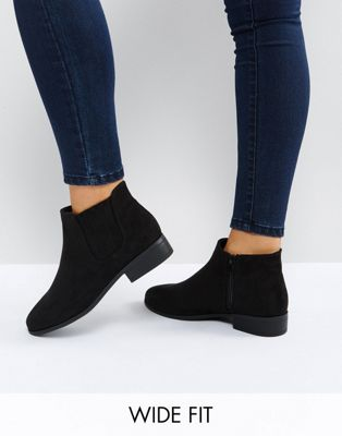 Image 1 of New Look Wide Fit Suedette Ankle Boot