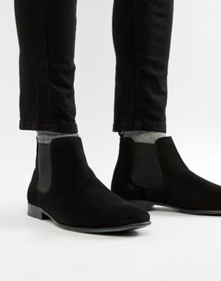 Next Leather Chelsea Boot In Black
