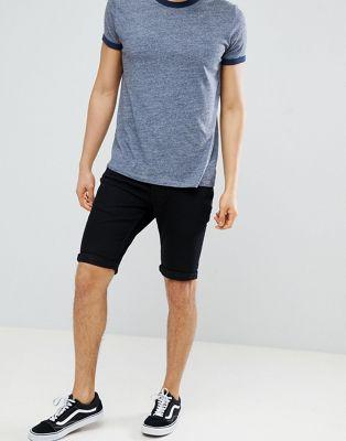 Next – Svarta jeansshorts i skinny fit