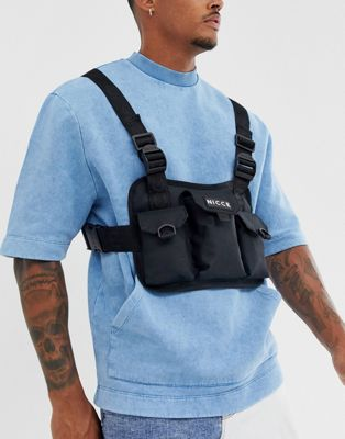 Nicce chest rig bag with logo in black