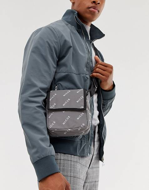 Nicce flight bag in reflective logo print