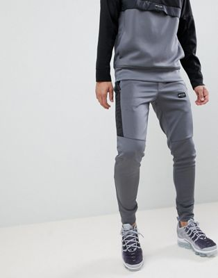 Nicce London Skinny Track Joggers In Grey