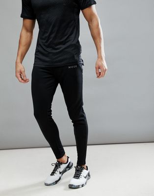 Nicce London Sport Skinny Track Joggers In Black