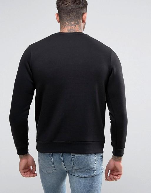 Avec Nicce Sweat Exclusivité Sur La Logo Asos London Noir Poitrine Shirt xx4wqtg