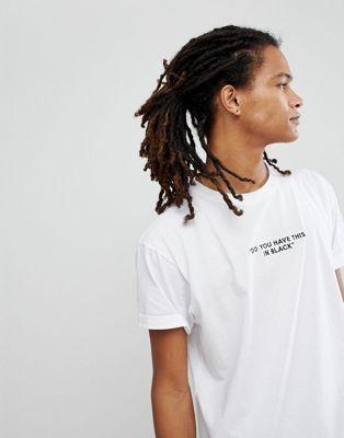 Night Addict Embroidered Slogan T-Shirt