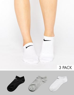 Nike 3 Pack Lightweight No Show Socks