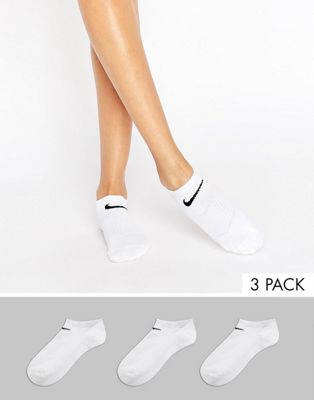 Nike 3 Pack White Lightweight No Show Socks
