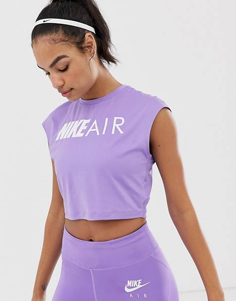 3079e24b9b57b Nike air crop t-shirt in purple