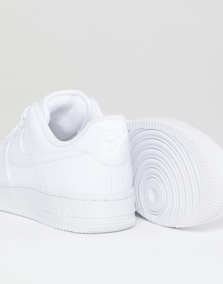 Nike   Air Force 1   Baskets Effet Peau De Serpent   Blanc by Nike