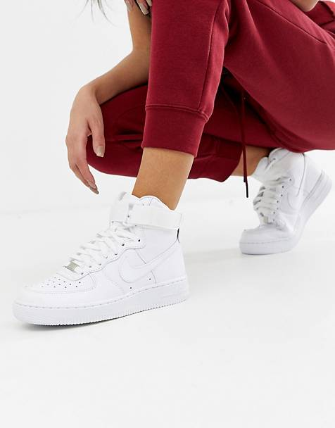 Nike Air Force 1 Hi sneakers in driedubbel wit